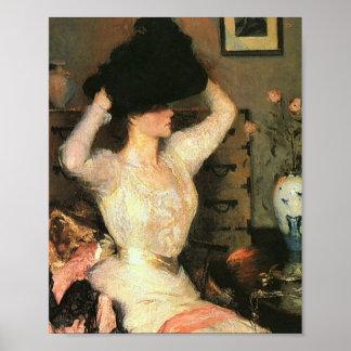 Poster O chapéu negro por belas artes de Frank Weston