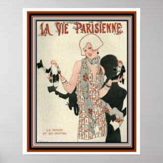 Pôster O cobrir de Deco para o La Vie Parisienne 16 x20