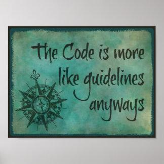 Pôster O código é mais como directrizes de qualquer