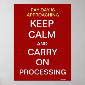 Poster O departamento da folha de pagamento engraçado
