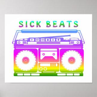Poster O doente bate o estéreo do anos 80