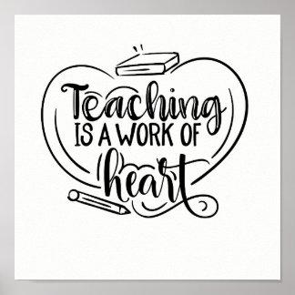 Poster O ensino é um trabalho de citações dos presentes