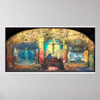 Pôster O Grail do Triptych por Anna pode - Rudolf Steiner