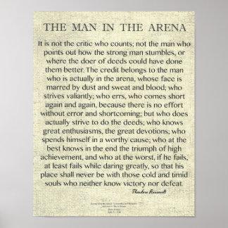Pôster O homem nas citações da arena por Theodore