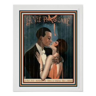 Poster O La do art deco Vie Parisienne 16 x 20