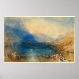 Poster O lago de Zug Joseph Mallord William Turner