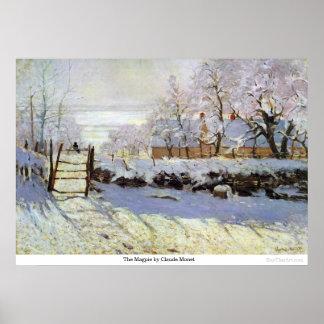 Poster O Magpie por Claude Monet