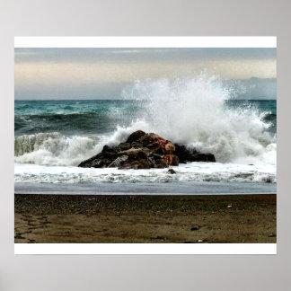 Pôster O mar Mediterrâneo após uma tempestade
