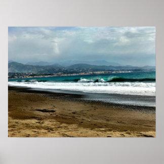 Poster O mar Mediterrâneo na espanha