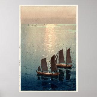 Poster O mar Sparkling por Hiroshi Yoshida