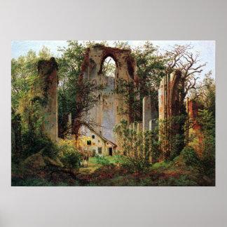 Pôster O monastério de Caspar David Friedrich arruina