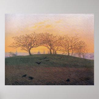 Pôster O monte de Caspar David Friedrich arou o campo