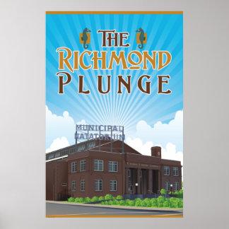 Pôster O Natatorium histórico do mergulho de Richmond