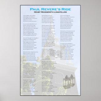 Poster O passeio da meia-noite de Paul Revere por