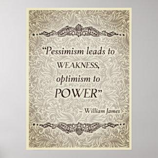 Poster O pessimismo conduz à fraqueza - Quote´s positivo