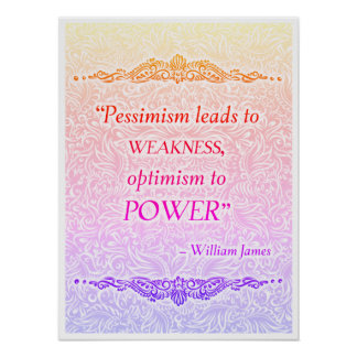 Pôster O pessimismo conduz à fraqueza - Quote´s positivo