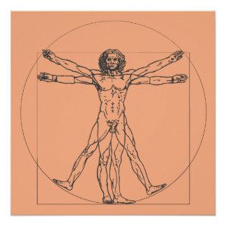Pôster O poster do homem de Vitruvian
