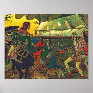 Pôster O príncipe & o caixão de vidro, Franz Jüttner