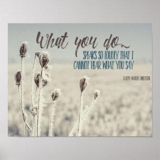 Poster O que você faz