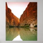 Poster O Rio Grande, curvatura grande NP, Texas