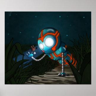 Pôster O robô e a borboleta