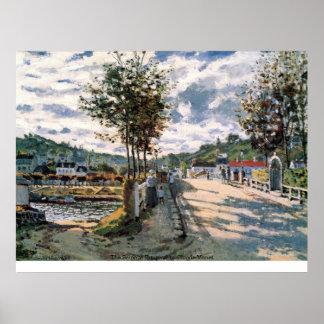 Poster O Seine em Bougival por Claude Monet