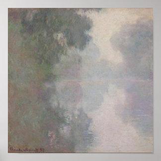 Pôster O Seine em Giverny, névoas da manhã