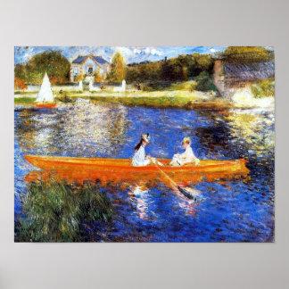 Pôster O Seine River em belas artes de Asnieres Renoir