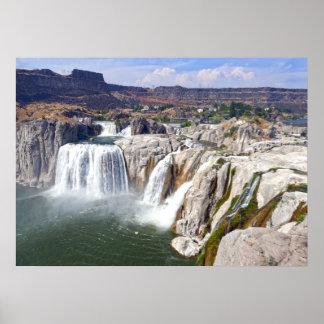 Pôster O Shoshone cai no rio Snake, Idaho