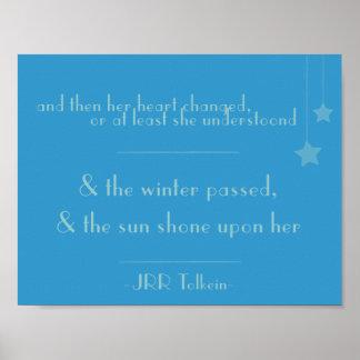Poster & o sol brilhado nela (poster das citações de