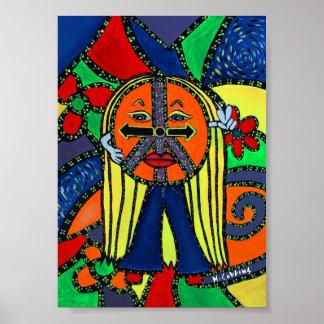 Pôster O tempo de paz remenda trabalhos de arte lunáticos