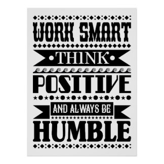 Poster O trabalho Smart pensa o positivo e seja sempre