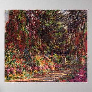 Poster O trajeto do jardim em Giverny