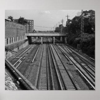 Pôster O trem segue o Queens NYC