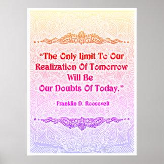 Poster O único limite - Quote´s positivo