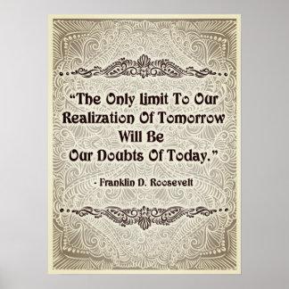 Pôster O único limite - Quote´s positivo