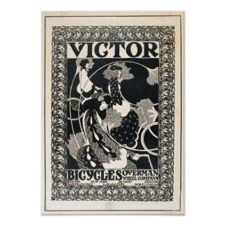 Pôster O vencedor do vintage Bicycles a propaganda