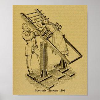 Poster O vintage cura a imagem 1894 da terapia da