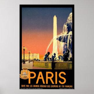 Pôster Obelisk de Paris Luxor da arte do vintage