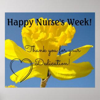 Poster Obrigado dos oosters da semana da enfermeira você