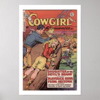 Poster ocidental velho do impressão da arte do anú