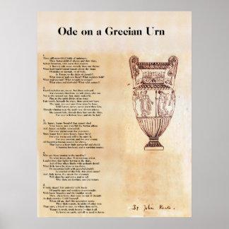 Pôster Ode em uma urna Grecian