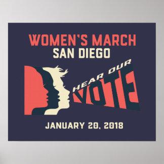 Poster oficial do março San Diego março das