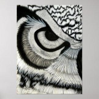 Poster Olho da coruja (esquerdo)