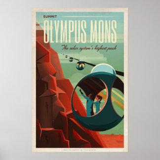 Pôster Olympus Mons, viagem de Marte