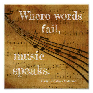 Pôster Onde as palavras falham ** a música fala - o