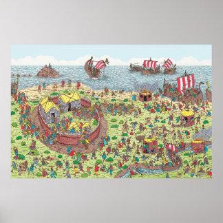 Poster Onde está Waldo | na excursão com os Viquingues