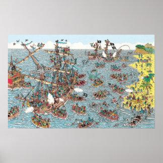 Poster Onde está Waldo | que são um pirata