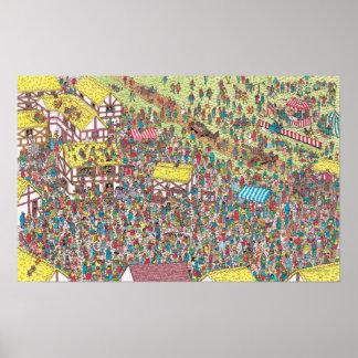Poster Onde está Waldo | uma vez em cima de um um sábado