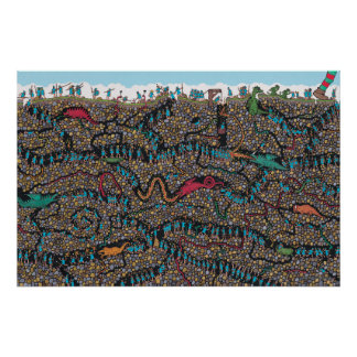 Poster Onde estão os caçadores subterrâneos de Waldo |